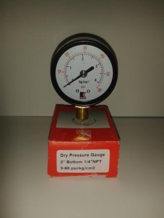 manometro seco 60 psi de 2  x 1/4  npt conexion lateral