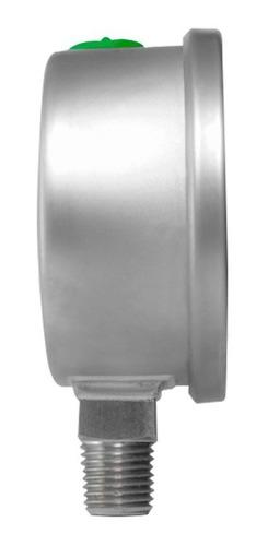 manómetro totalmente inox glicerina carátula 2.5 plg 100 psi
