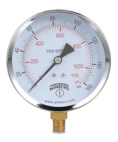 manómetro winters pem caja 63mm economico r1/4 rangos
