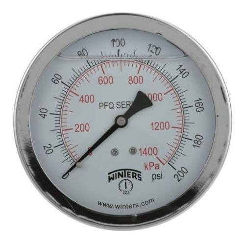 manómetro winters pfq caja 63mm inox. r1/4 posterior rangos