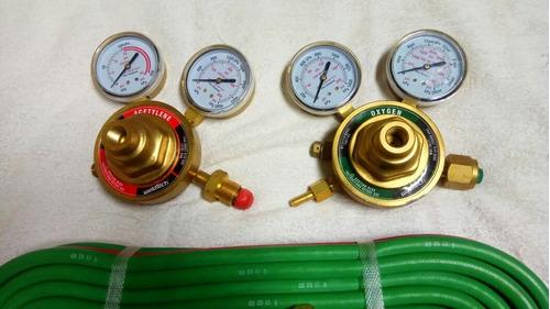 manómetros acetileno y oxigeno equipo oxicorte weldtech