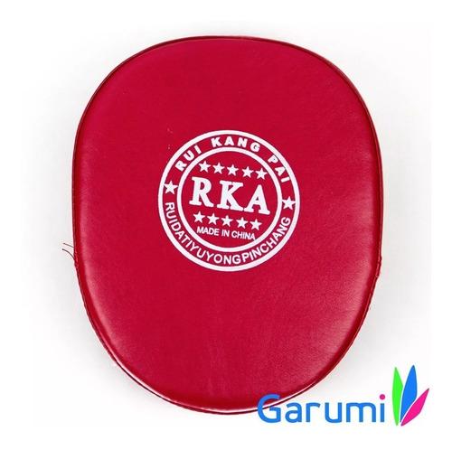 manopla cachagolpes piel sintetica karate box mma rojo d1018