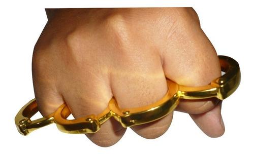 manopla para defensa personal modelo exclusivo color dorado