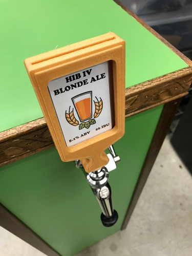 manopla tap handle chopeira personalizada italiana cartão