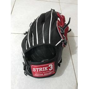60fa61400c0ba Guante Beisbol Softbol Piel Strike 3 Jardinero Field Manopla