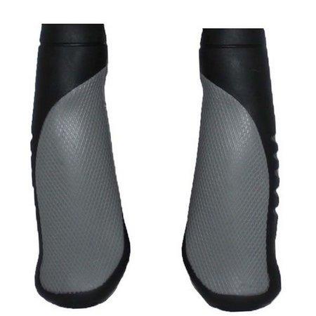 manoplas de guidão ergonômicas elleven preta / cinza