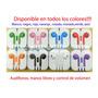 Audífonos Iphone 5-5g,4-4s Ipad,manos Libres,control Volumen