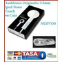 Audífonos Originales 3.5mm Caja Ipod Nano Touch Mp3 Iphone