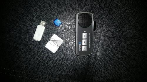 manos libres bluetooth p auto y receptor usb de bluetooth