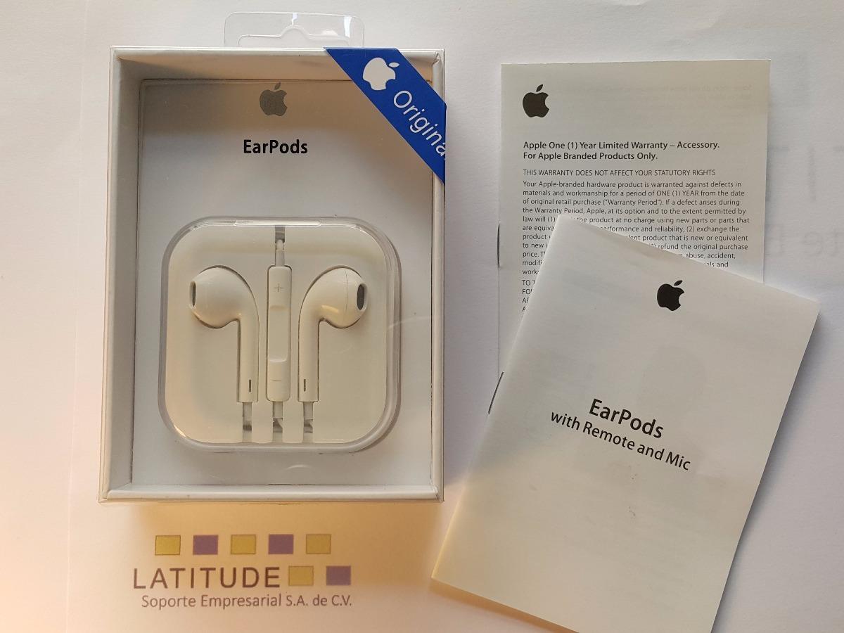 ee5416f3aa9 Audifonos Manos Libres iPhone 5 6 7 Plus Earpods Originales ...