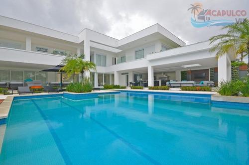 mansão acapulco i - altíssimo padrão - 2.000 metros - permuto 50% - ca0125