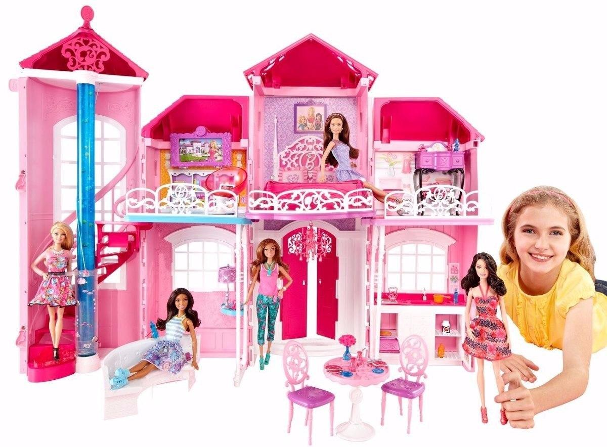 Mans o casa da barbie em malib 3 andares gigante pronta for Piscina de bolas toysrus
