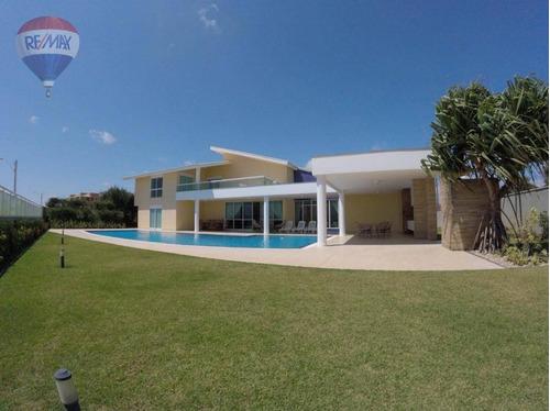 mansão duplex à beira mar na praia do cumbuco - ca0088