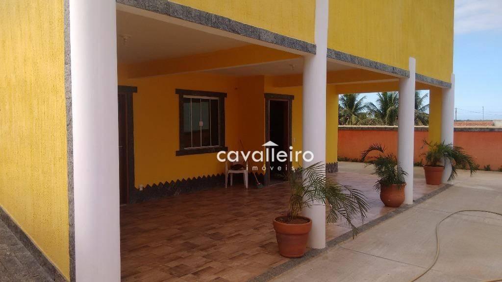 mansão em condomínio frente a praia de jaconé (ponta negra), maricá. - ca2136