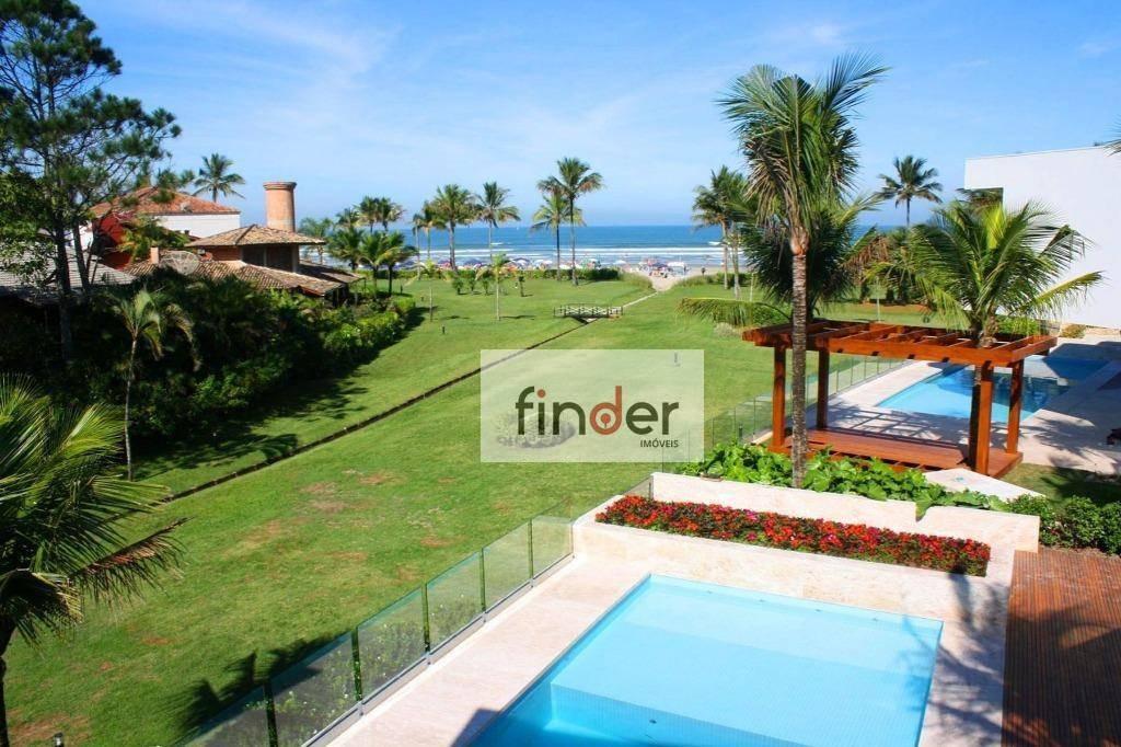 mansão em riviera com 7 dormitórios à venda, 1184 m² por r$ 17.900.000 - riviera de são lourenço - bertioga/sp - ca0840