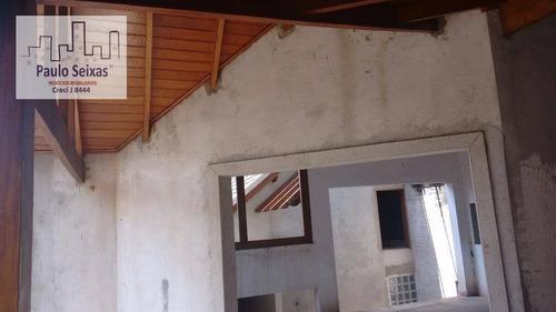 mansão semi acabada - lindíssima - ca0080