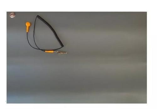 manta anti estática 60x40, esd com conector cabo aterramento