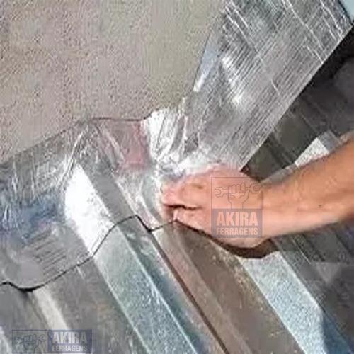 manta asfáltica auto adesivo aluminio vedacit 20cm 10m telha