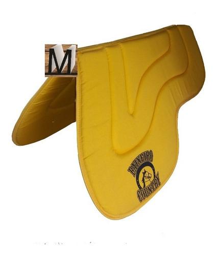 manta baixeiro country com aba amarelo para cavalo