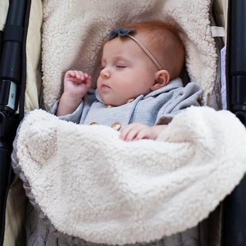 manta bebê inverno nascido swaddle wrap wrap quente unissex