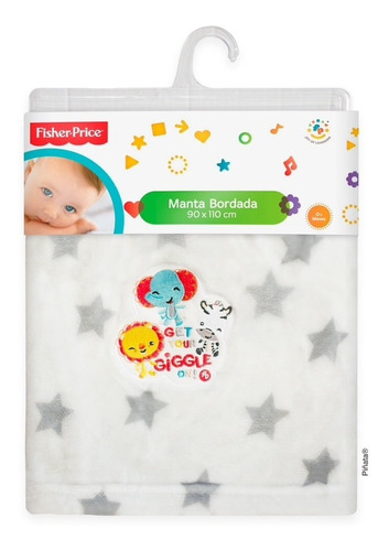 manta bordada fisher price manta súper soft fisher price