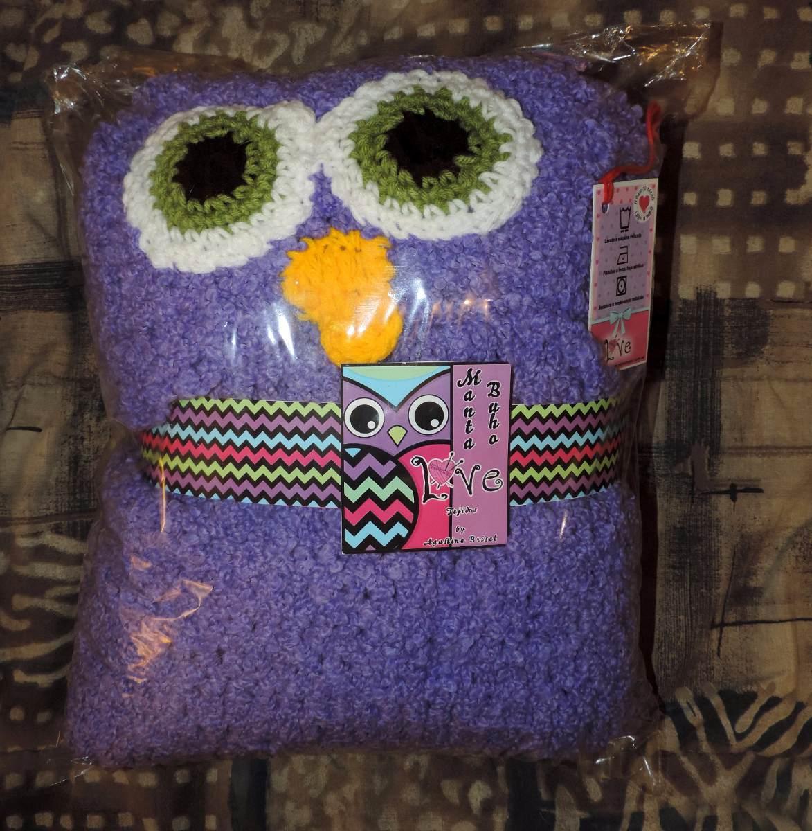Manta Buho Con Capucha - Adultos / Niños - Crochet - $ 2.500,00 en ...