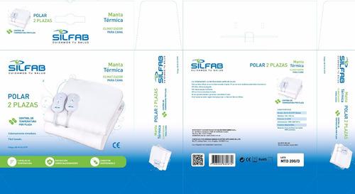 manta climatizador  cama silfab  mt 200 1 plaza bajo consumo