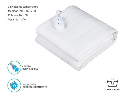 manta climatizador de cama 1 plaza frazada termica invierno
