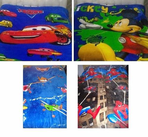 manta cobertor infantil desenho carros herois princesas