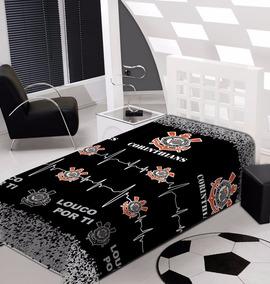 e053354d Cobertor Jolitex Corinthians Solteiro - Todo para o seu Quarto no Mercado  Livre Brasil