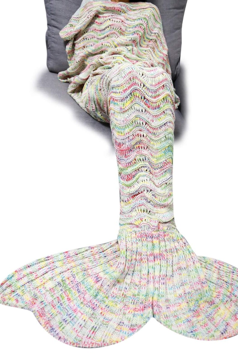 Manta Cobija De Cola Sirena Ganchillo Tejidas Crochet - $ 347.07 en ...