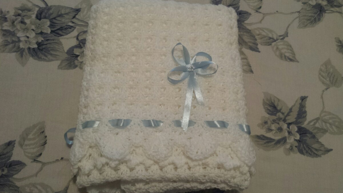 Manta colcha tejida en crochet a mano para cunita de - Colchas ganchillo bebe ...