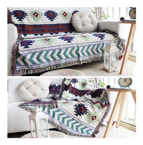 manta con flecos para la cama del sofá suavemente deco...