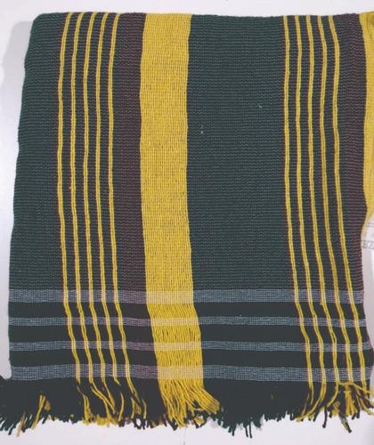 manta cubre sillon pie de cama country rayas 150x150 cm