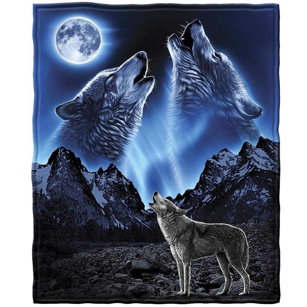 Manta Dawhud Direct Lobos Aullando A La Luna 123000 En Mercado