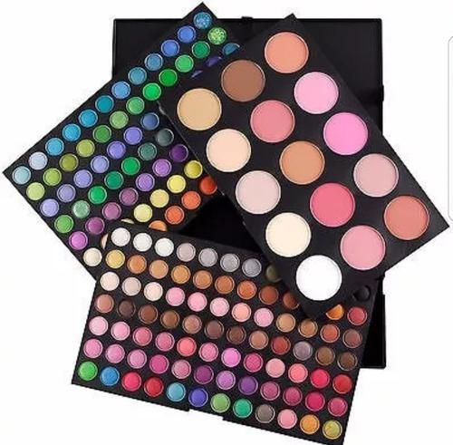 manta de 24 pinceles + paleta de sombras 180 colores