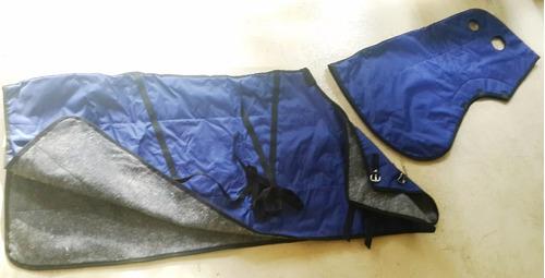 manta de abrigo e impermeable con pescuecera para caballos
