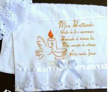 manta de batizado bordado com toalhinha grátis r 125 00 em