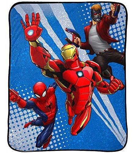 manta de cama para niños de marvel avengers  46.0 in x 60.0