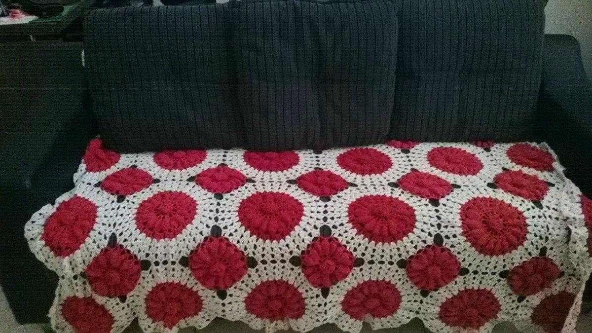 Manta de croche para sofa sob encomenda r 255 99 em - Manta de sofa ...