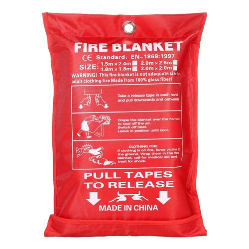 manta de fibra de vidrio contra incendios 1m * 1m #5