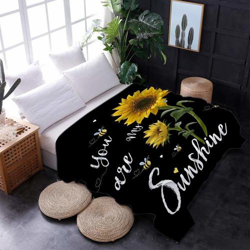 manta de girasol para la cama sofá sofá mantas de vel...