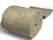 manta de lana de roca con malla o revestida c/foil de alum.