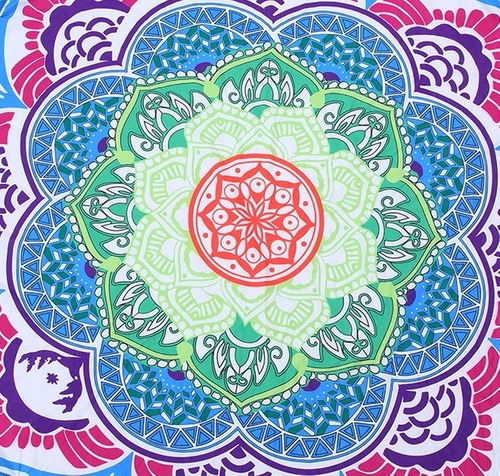 manta de mandala en forma de flor de loto, yoga, tapiz