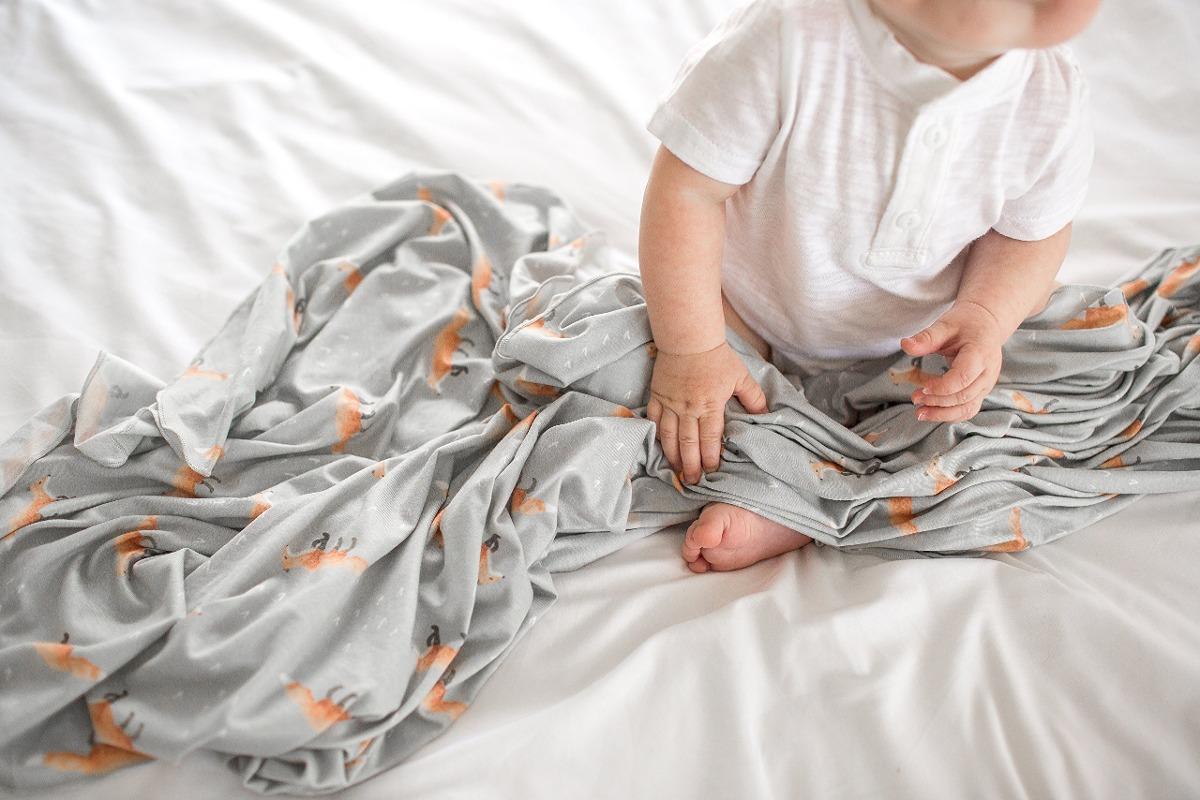Manta De Recepción Grande Para Bebés De Punto, De Color Gri ...