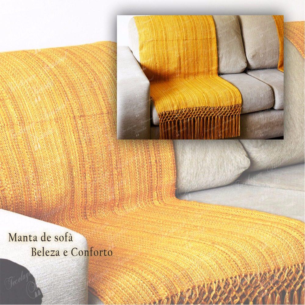 Manta de sof amarela ouro lisa r 150 00 em mercado livre - Manta de sofa ...