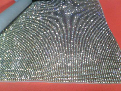 manta de strass cristal silicone tamanho 45cmx1,20m