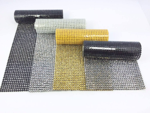 manta de strassfalso, dourado, prata, preto, grafite - 40x10