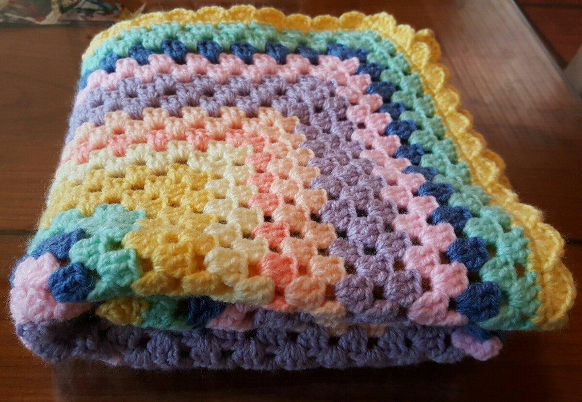 Crochet manta de beb manta en crochet para beb 233 70 cm - Mantas a crochet ...