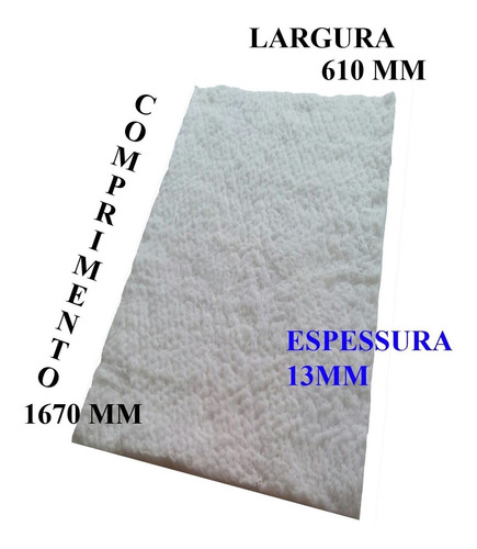 manta fibra cerâmica esp 13mm isolamento termico m2 1260ºc